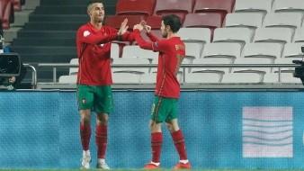 Cristiano Ronaldo anotó uno de los siete goles de su equipo.