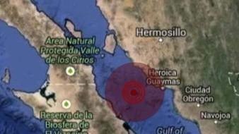 Un sismo se registró esta noche en Guaymas, aunque se desconoce la magnitud