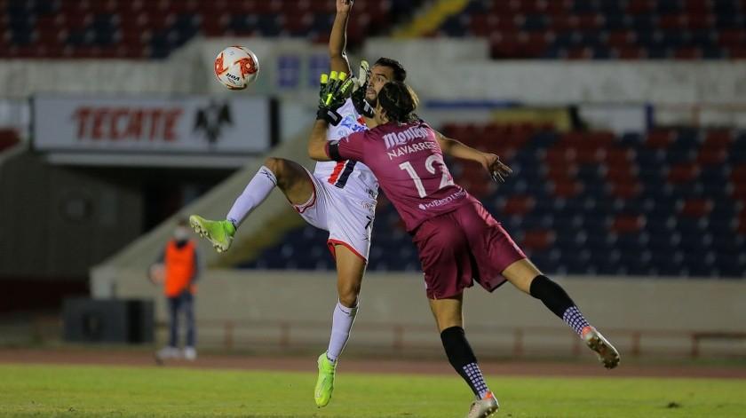 Ángel López estuvo cerca de marcar el primero para Cimarrones(Eleazar Escobar)