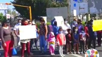 La manifestación desarrollada en Oaxaca en pro de que se entreguen medicamentos para los niños con cáncer.