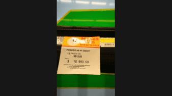 El error que notó el comprador en el precio era que estaba redactado con punto en lugar de coma.
