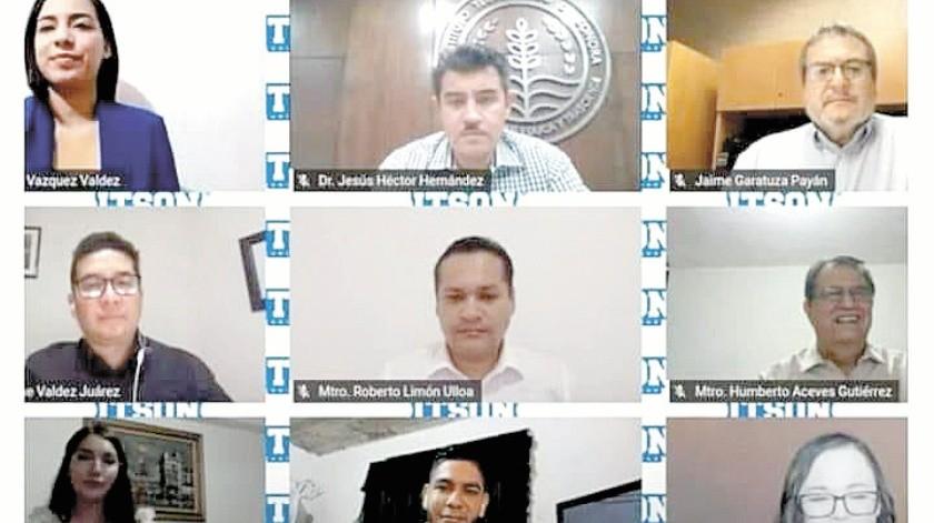 Estudiantes y egresados destacados fueron reconocidos por el Itson en ceremonia virtual.(Mayra Echeverría)