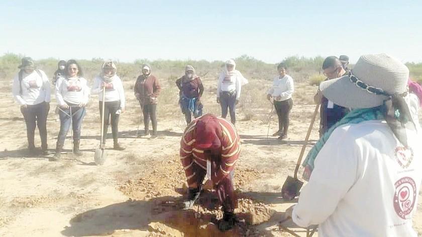 Madres Buscadoras de Sonora hicieron una búsqueda especial por Marco Antonio en compañia de otros colectivos en la Costa de Hermosillo.(Cortesía)