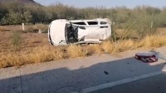 Se accidenta familia entre Obregón y Guaymas; habría al menos 5  lesionados