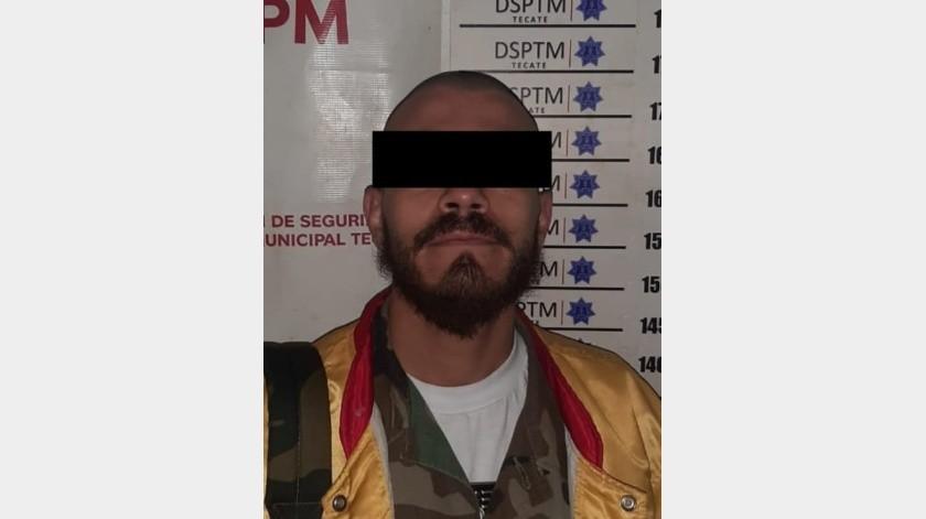 """El detenido está identificado como Carlo Jonathan """"N"""".(Cortesía)"""