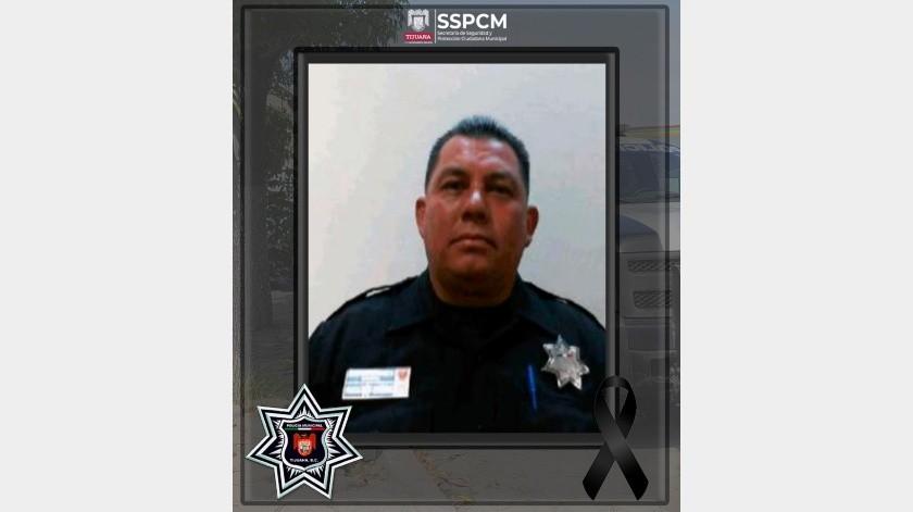 El oficial Mario Hugo Hernández Damián perdió la vida por complicaciones generadas por el Covid.(Cortesía)