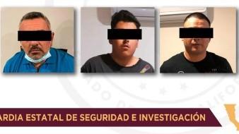 Detiene FGE en Tijuana a tres integrantes de célula criminal