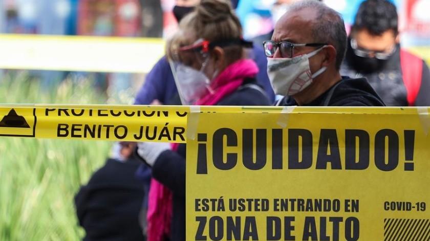 Covid-19 en México: 719 muertes y 6 mil 426 nuevos casos al corte de hoy(EFE)