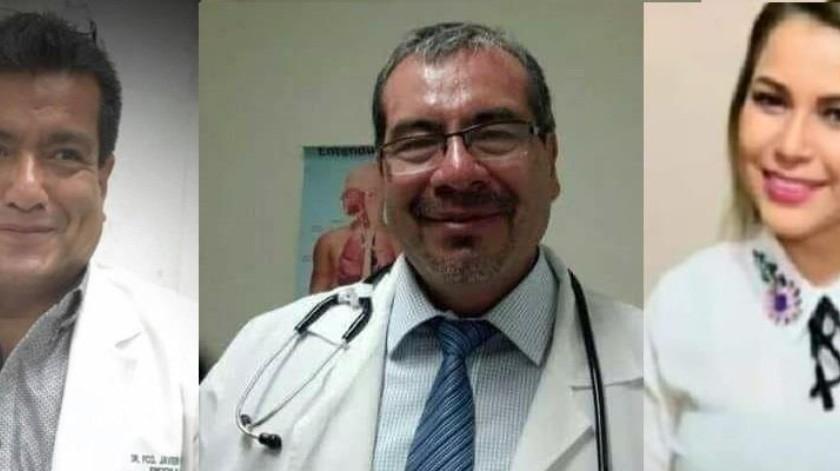 Los médicos Francisco Javier Rodríguez y Javier Arroyo y la administrativa Claudia Gil murieron de Covid.(Cortesia)
