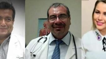 Los médicos Francisco Javier Rodríguez y Javier Arroyo y la administrativa Claudia Gil murieron de Covid.