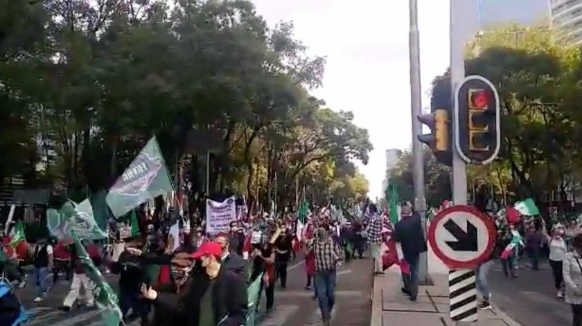 En esta ocasión la movilización no llegará al Zócalo de la Ciudad de México como se había hecho antes(Twitter)