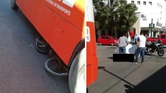 Camión arrolla y fractura a ciclista en el Centro de Hermosillo