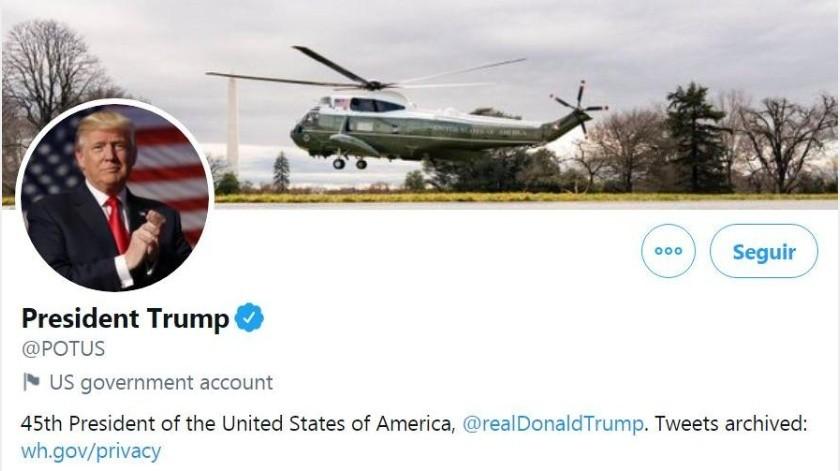 Aunque Trump se niegue, Twitter entregará a Biden cuenta oficial presidencial(Twitter/ Donald Trump)