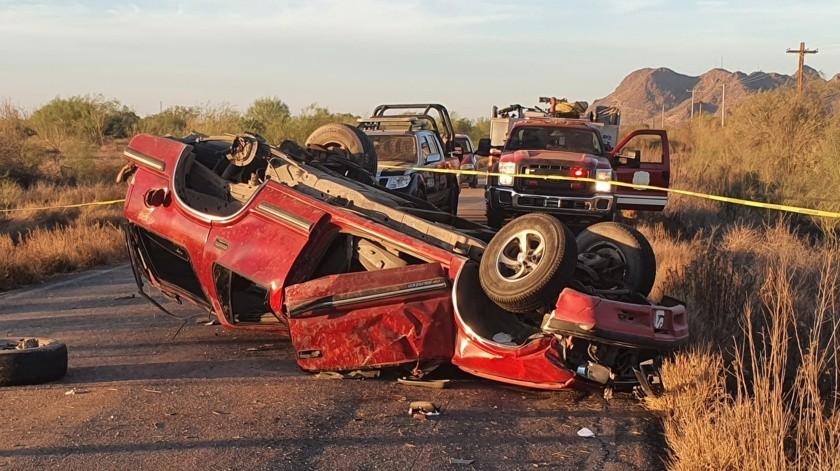 Una persona falleció en un accidente en la carretera 4, kilómetro 4 del entronque carretera 100 que conduce a Bahía de Kino.
