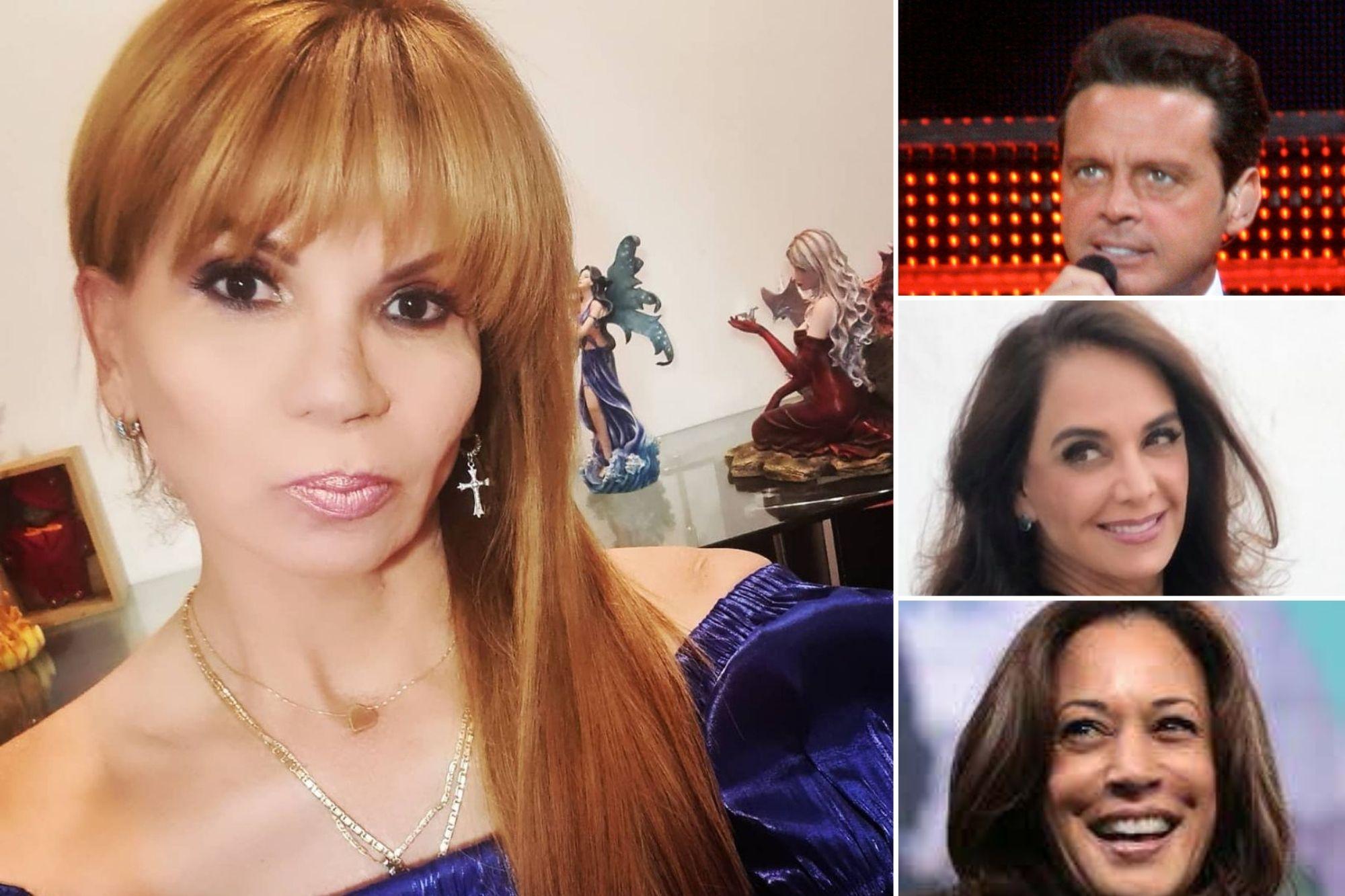 Mhoni Vidente predice que Luis Miguel o Miguel Bosé tendrán una grave enfermedad, Kamala Harris será presidente de Estados Unidos, Lupita Jones debe cuidar su salud y más.