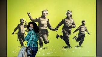 La más reciente obra de Banksy, conocida como