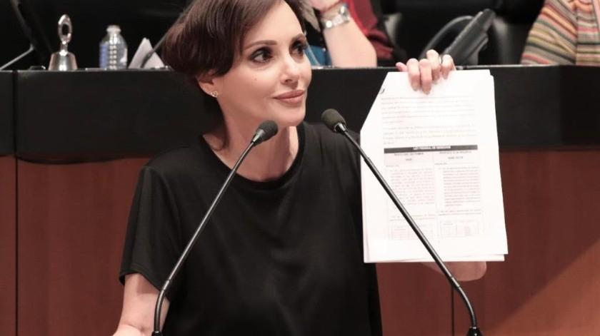Lilly Téllez, senadora.(ESPECIAL)