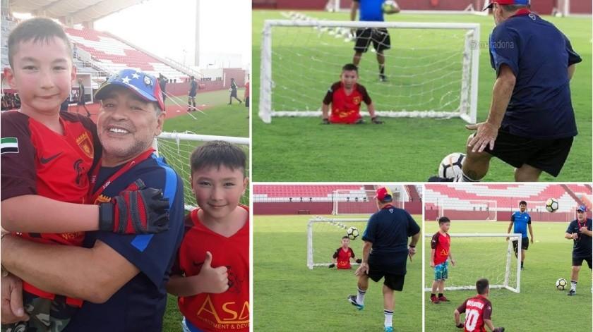 ¡Golazo! Recuerdan cuando Maradona cumplió sueño de niño sin piernas(Instagram/ ali_amir_happy)