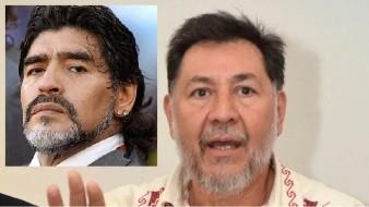 Noroña pide minuto de silencio por Maradona en Cámara de Diputados