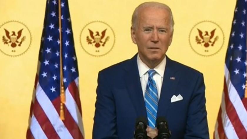 Joe Biden, Presidente electo EU durante mensaje Día Acción de Gracias(Captura pantalla)