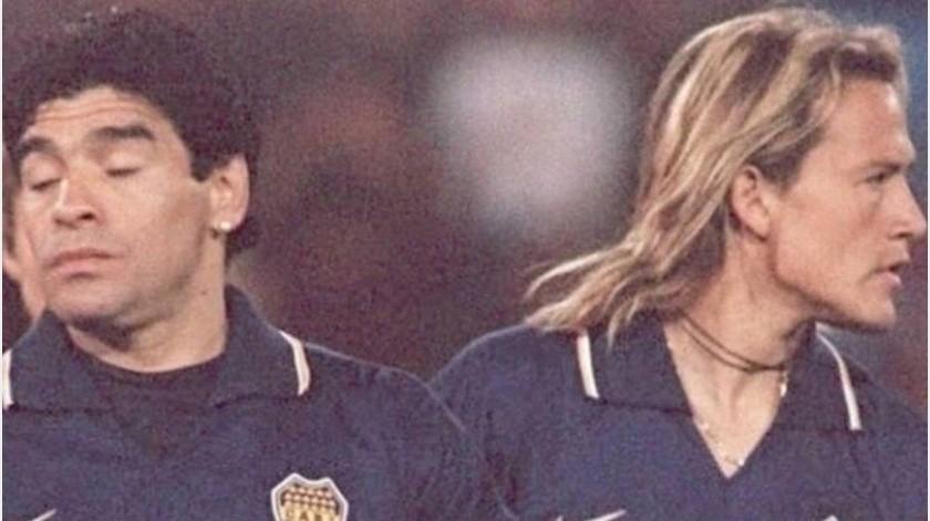 """Maradona quiso festejar el primer gol del """"Matador"""" Hernández con prostitutas(Instagram @elmatadorpr15)"""