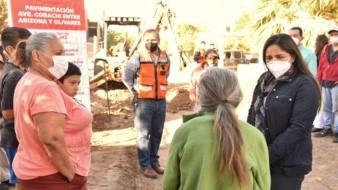Anuncia alcaldesapavimentación decalles en la colonia Jacinto López