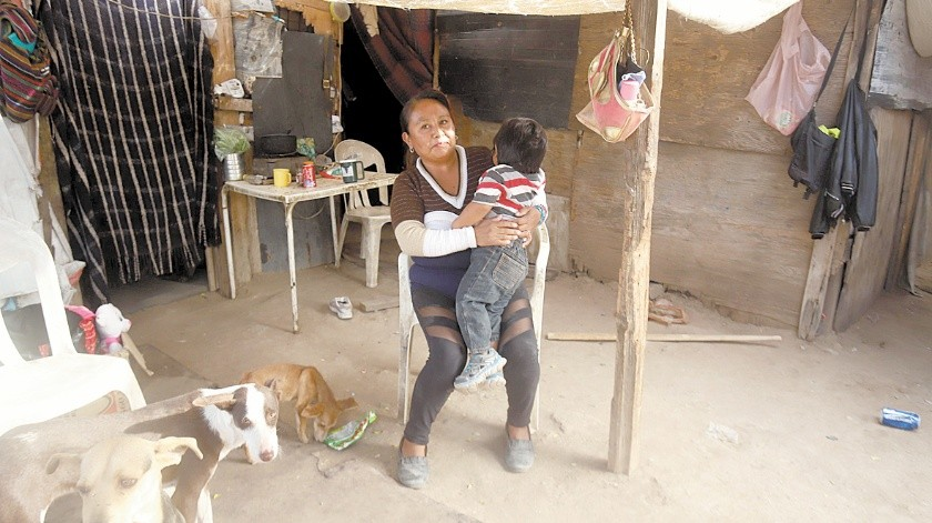 María Elena Pérez Gómez tiene cuatro hijos y vive en la invasión Guayacán.(Teodoro Borbón)