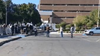 Despliegan dispositivo de seguridad en visita presidencial