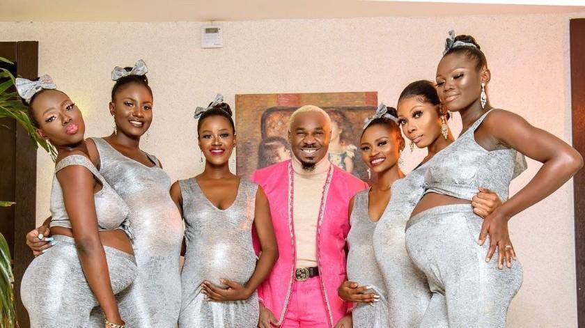 Critican a hombre que acudió a boda con seis novias embarazadas(Instagram)