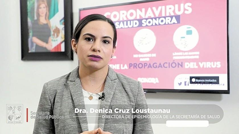 Dénica Cruz Loustaunau, directora de Epidemiología en Sonora.(Banco Digital)