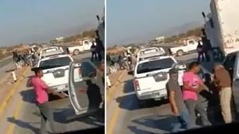 Sacan arma en bloqueo Yaqui de carretera Guaymas-Obregón