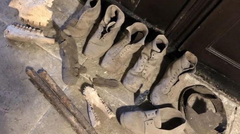 Pareja encuentra un escondite lleno de zapatos en su casa(Tomada de la red)