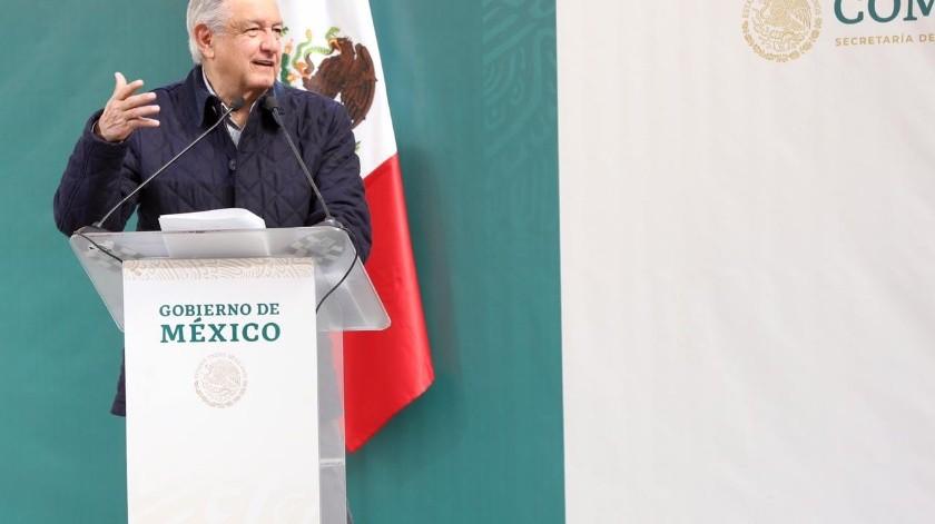 La corrupción que se daba en Capufe, apuntó López Obrador durante su visita a Rosarito.(Sergio Ortiz)