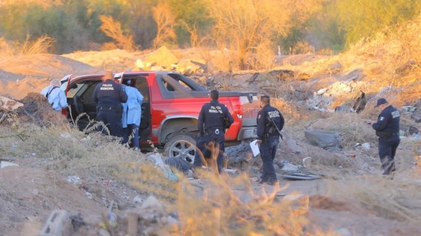 El vehículo Avalanche se encontraba embancada en el relleno sanitario(Eleazar Escobar)