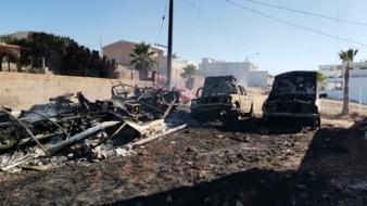 Consume incendio forestal vivienda y dos autos en Rosarito
