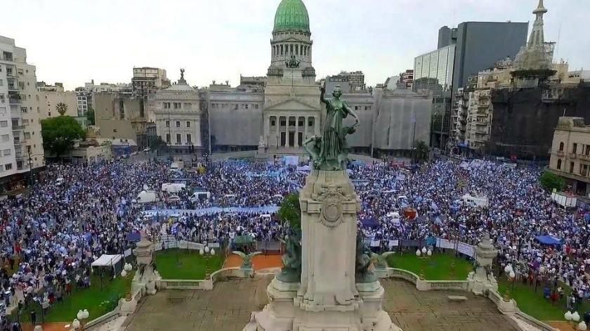 Argentina aprueba debate por la legalización del aborto(FB oficial. Imagen de archivo)