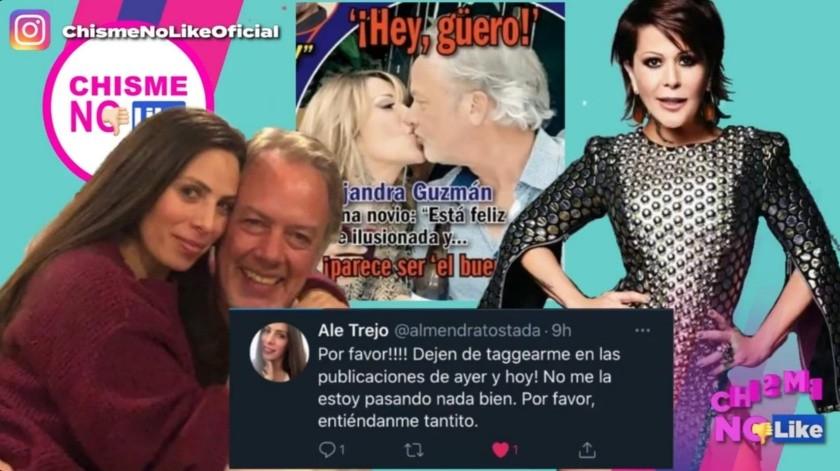 De acuerdo a Ale Trejo, Lanz la engañó con Alejandra Guzmán en agosto(Captura de pantalla)