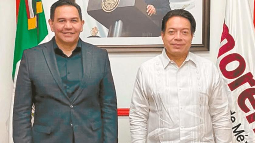 El señalado, además de ser senador, es aspirante a la gubernatura por Morena y desde 2017.(Twitter)