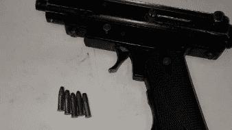 Lo sorprenden con pistola de fabricación casera