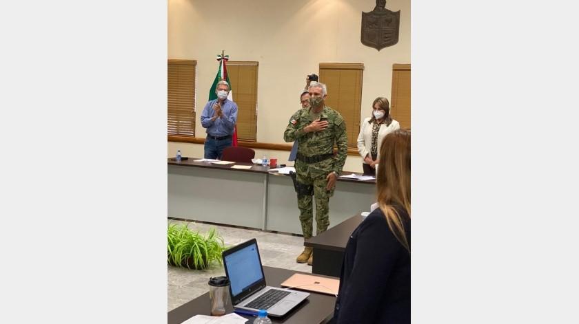 Cándido Tarango Velázquez, Secretario de Seguridad Pública de Cajeme.(Mayra Echeverría)