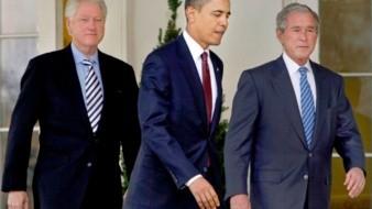 Los expresidentes Bush, OBama y Clinton están dispuestos a vacunarse contra el Covid
