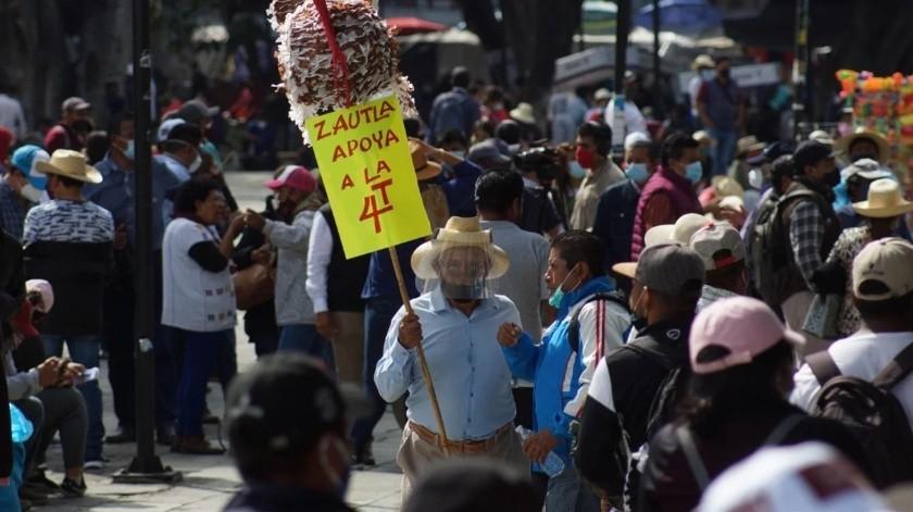 Candidato de Morena convoca a marcha pese a que AMLO llamó a no salir