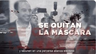En el video sale el ex presidente Carlos Salinas de Gortari; el ex candidato presidencial por el PAN, Diego Fernández de Cevallos; Enrique Peña Nieto y Vicente Fox