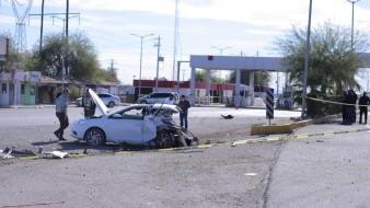 Exceso de velocidad y herida de bala: doble muerte por choque en caseta de Hermosillo