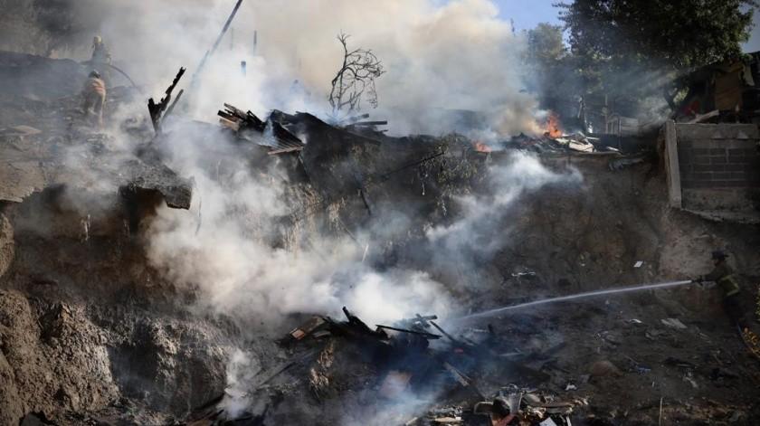 El siniestro ocurrió en la avenida Volcán de Toluca(Sergio Ortiz)