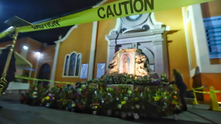 La pandemia del Covid-19 impidió la concentración de fieles en la Catedral de Mexicali, para venerar a la Virgen de Guadalupe.(Daniel Reséndiz)