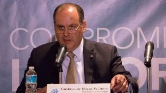 Gustavo de Hoyos, presidente de la Confederación Patronal de la República Mexicana