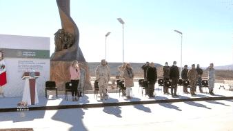 Inauguran Plaza Memorial en honor a las víctimas de la masacre en La Mora, Bavispe