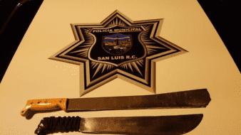 Arrestan a armados con machetes en SLRC