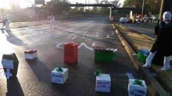 Protestan médicos del IMSS por las vacunas Covid-19